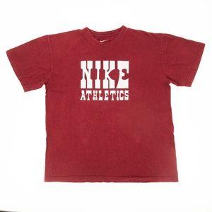 Nike Crewneck Shirt Graphic Tee Screen Print Loose